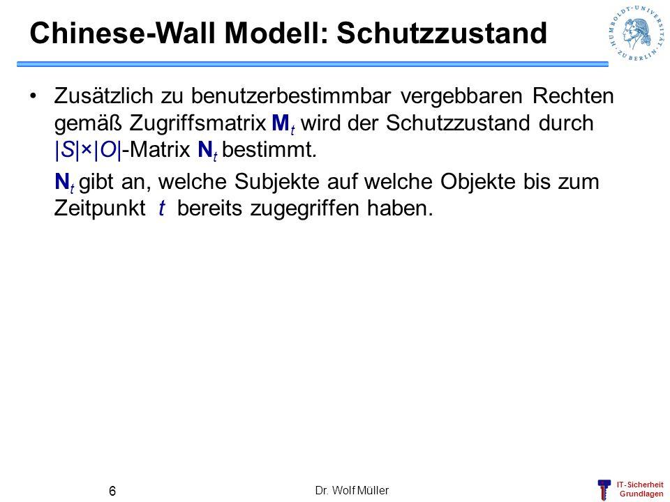 Chinese-Wall Modell: Schutzzustand