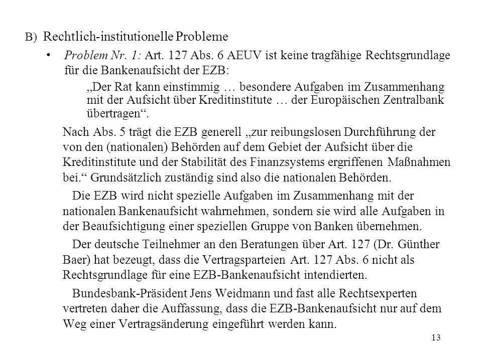 B) Rechtlich-institutionelle Probleme