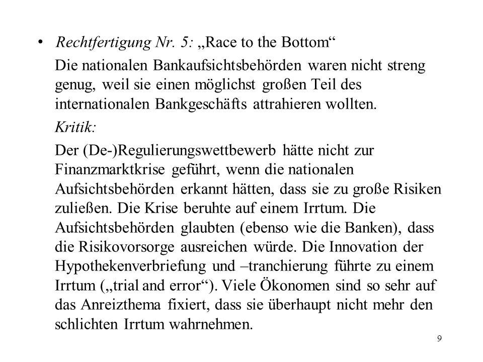 """Rechtfertigung Nr. 5: """"Race to the Bottom"""