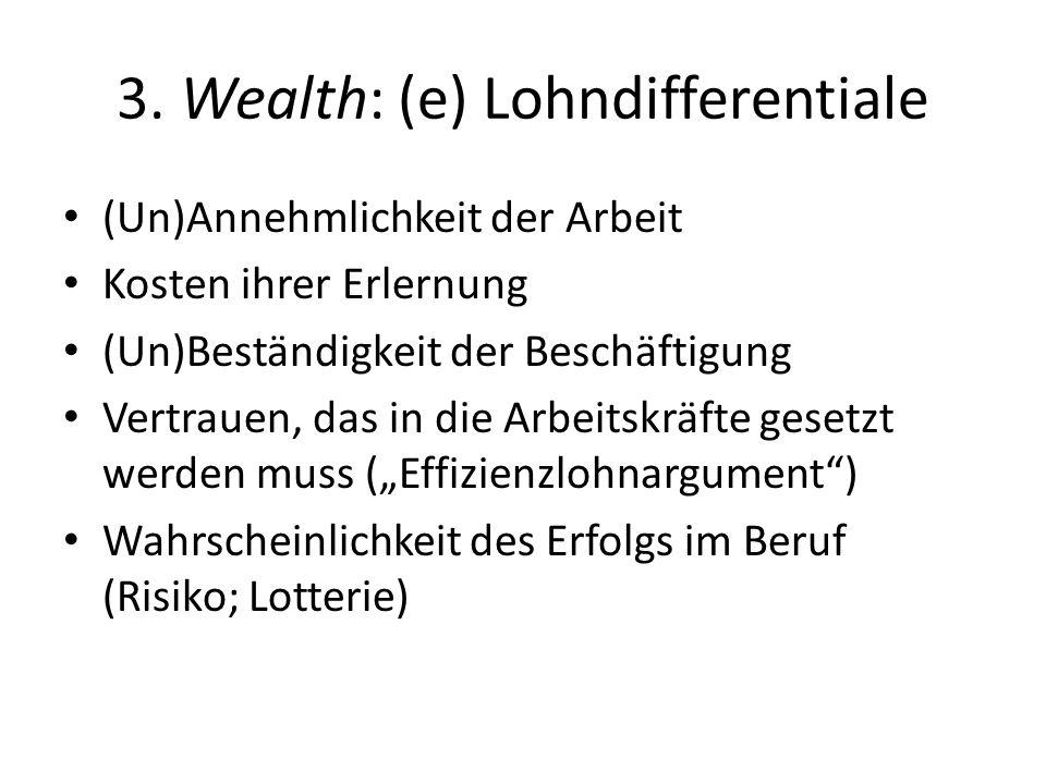 3. Wealth: (e) Lohndifferentiale