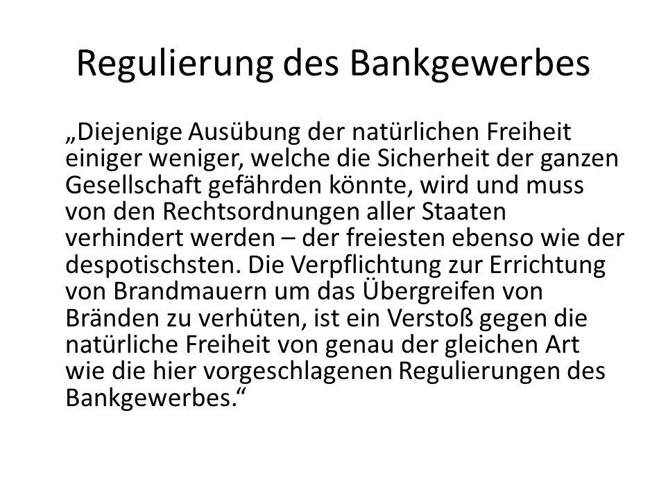 Regulierung des Bankgewerbes
