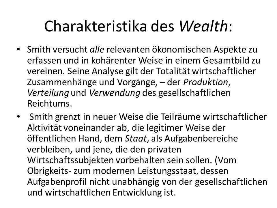 Charakteristika des Wealth: