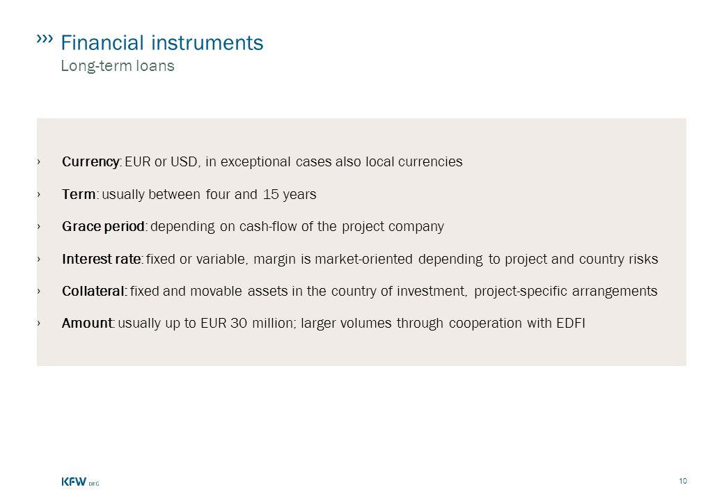 Financial instruments Long-term loans