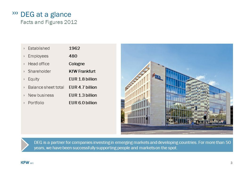 DEG at a glance Facts and Figures 2012