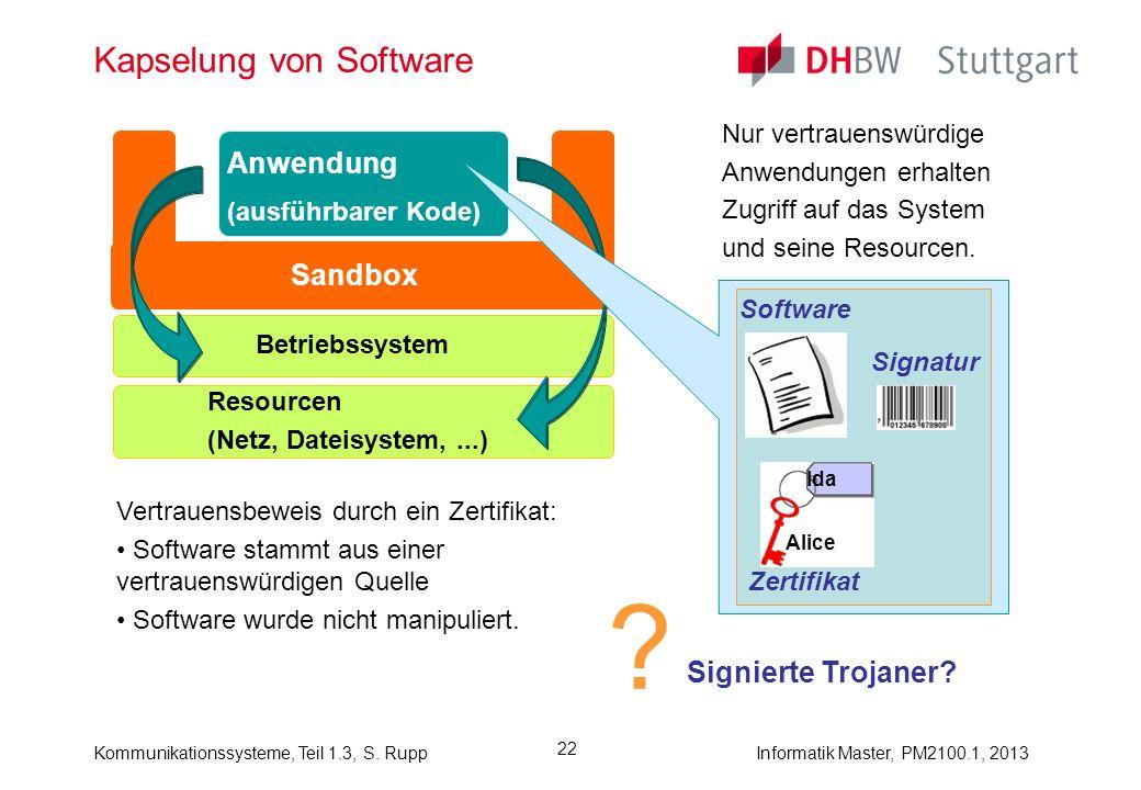 Kapselung von Software