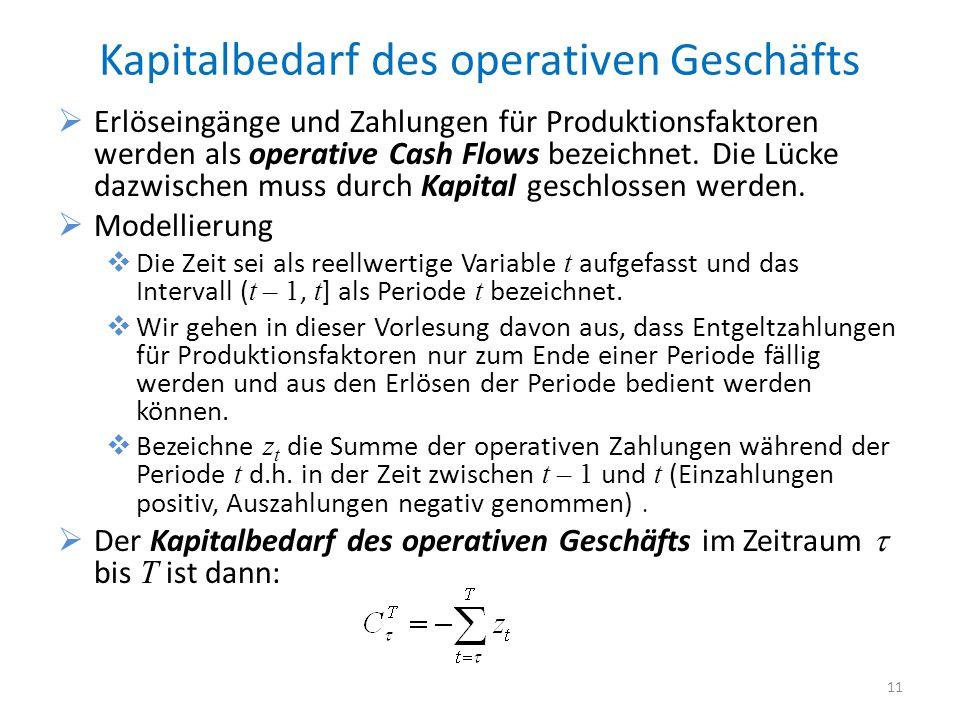 Kapitalbedarf des operativen Geschäfts
