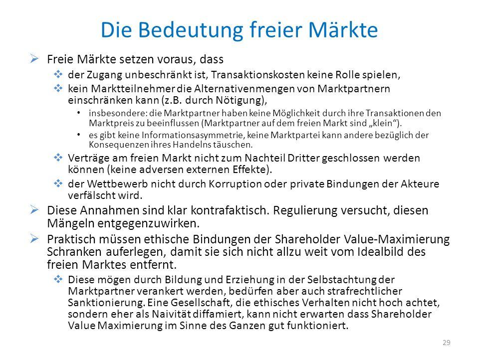 Die Bedeutung freier Märkte