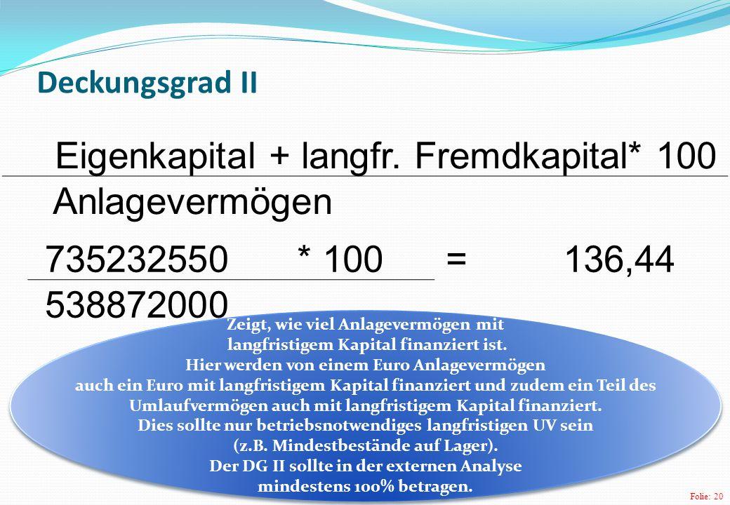 Umlaufvermögen auch mit langfristigem Kapital finanziert.