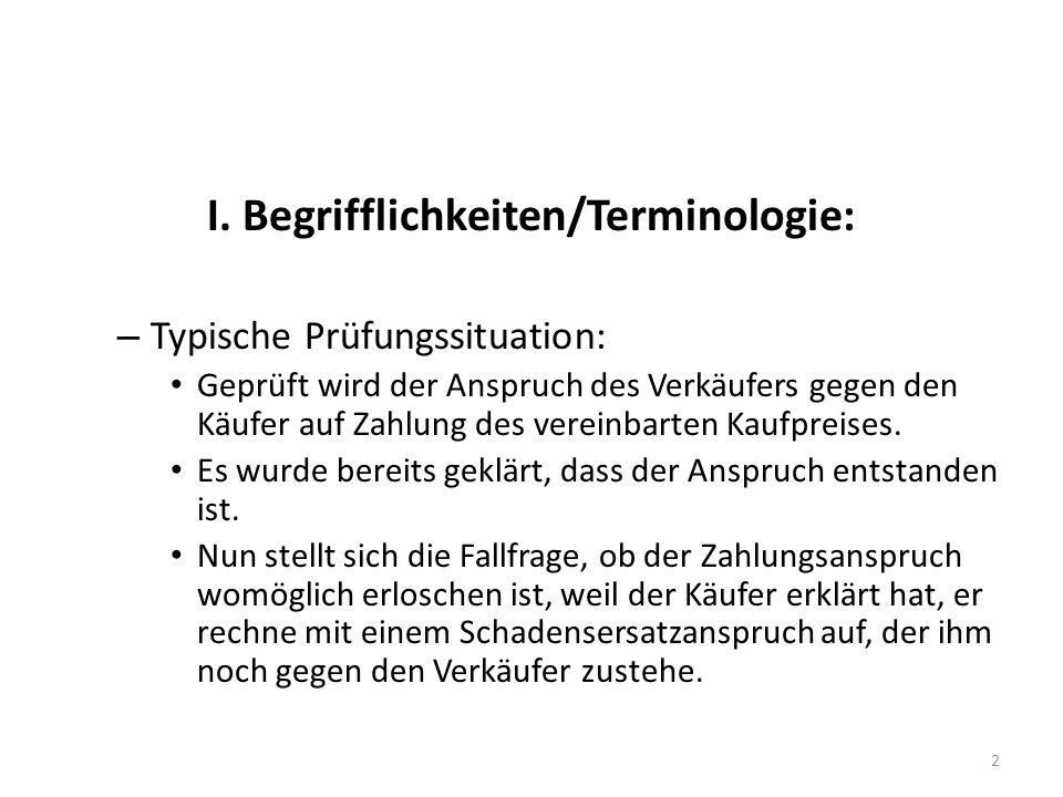 I. Begrifflichkeiten/Terminologie: