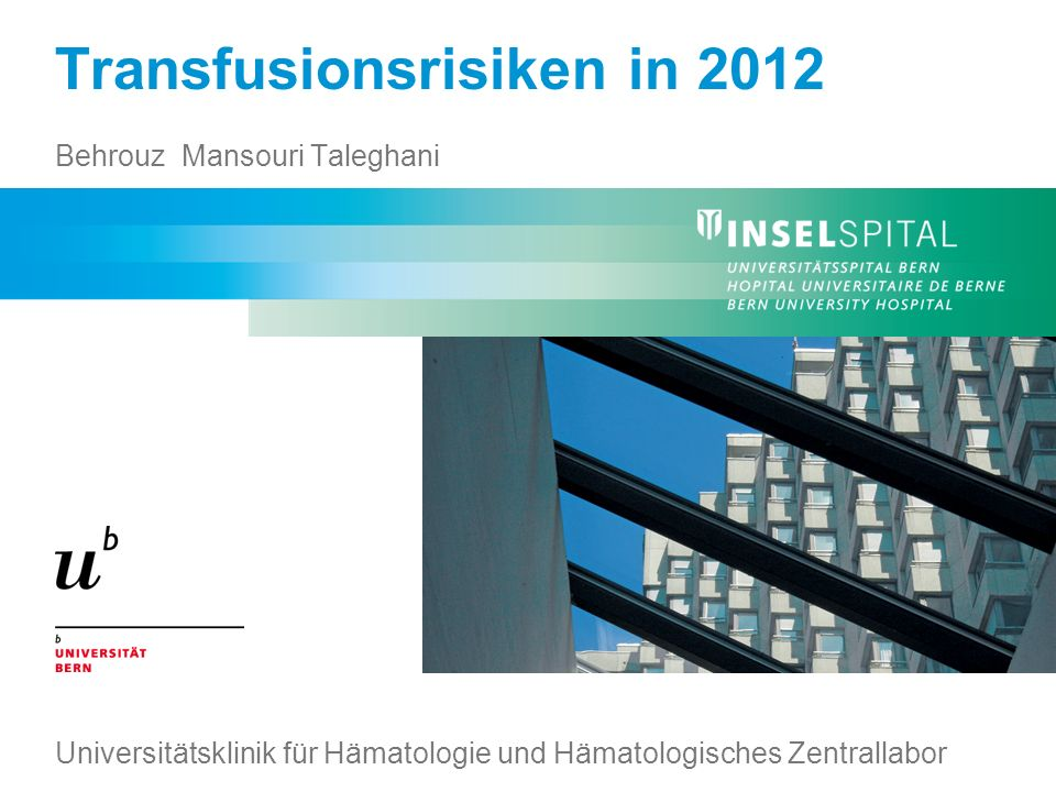 Transfusionsrisiken in 2012