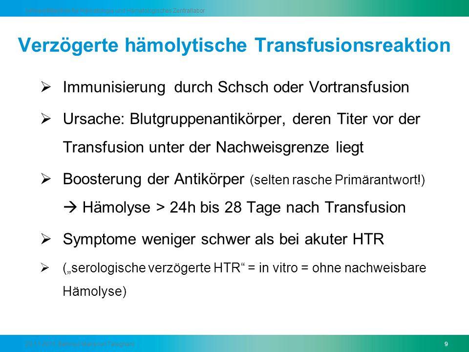Verzögerte hämolytische Transfusionsreaktion