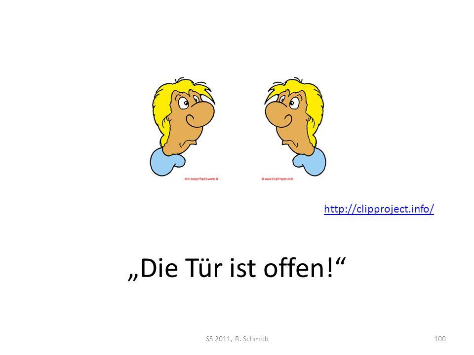"""http://clipproject.info/ """"Die Tür ist offen! SS 2011, R. Schmidt"""