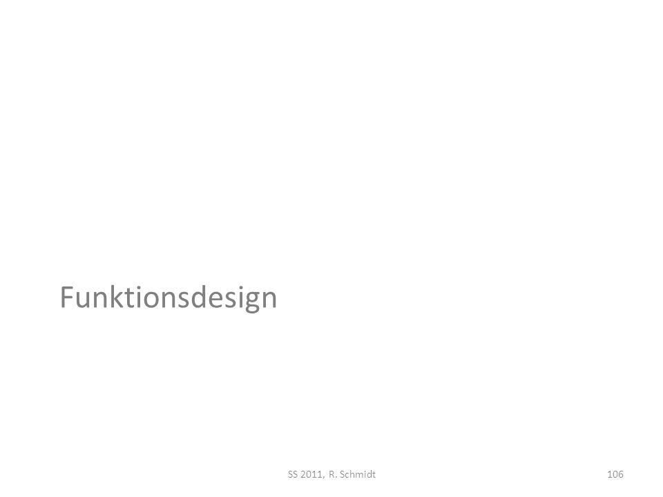 Funktionsdesign SS 2011, R. Schmidt