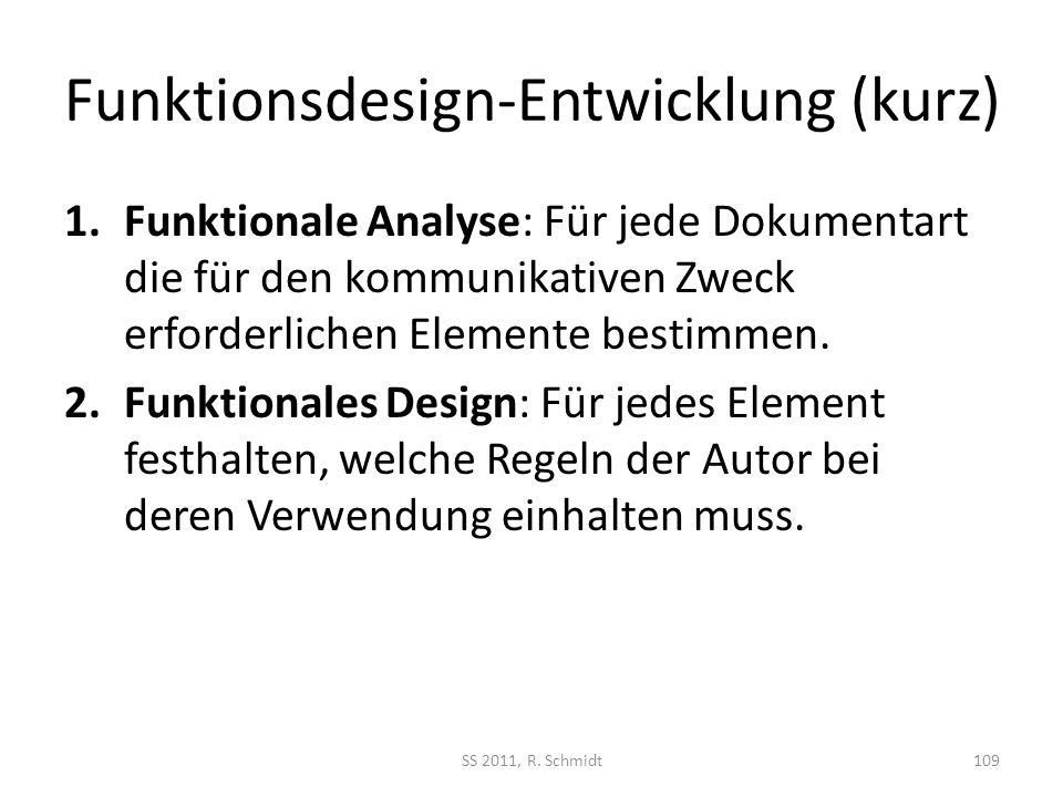 Funktionsdesign-Entwicklung (kurz)