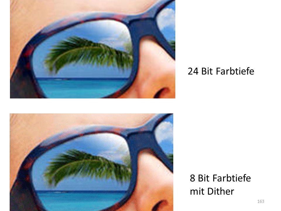8 Bit Farbtiefe mit Dither