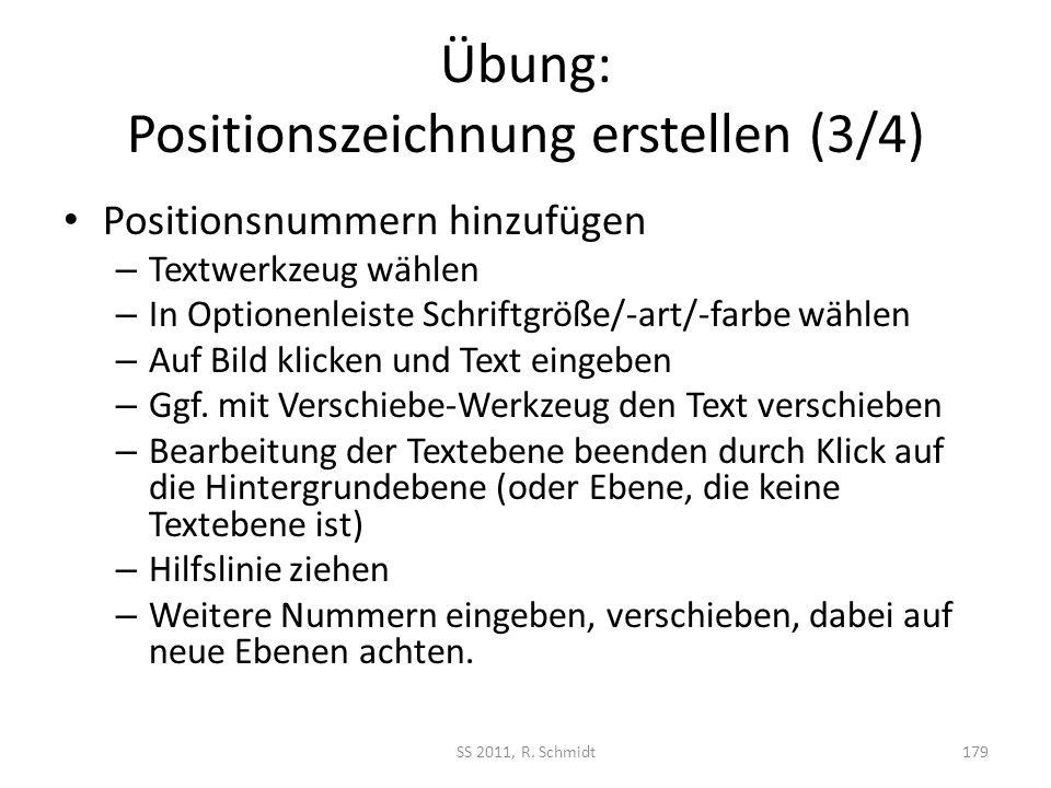 Übung: Positionszeichnung erstellen (3/4)