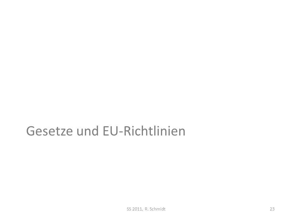 Gesetze und EU-Richtlinien