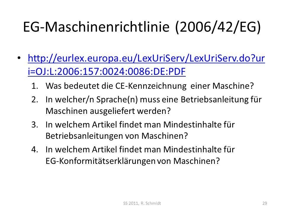 EG-Maschinenrichtlinie (2006/42/EG)