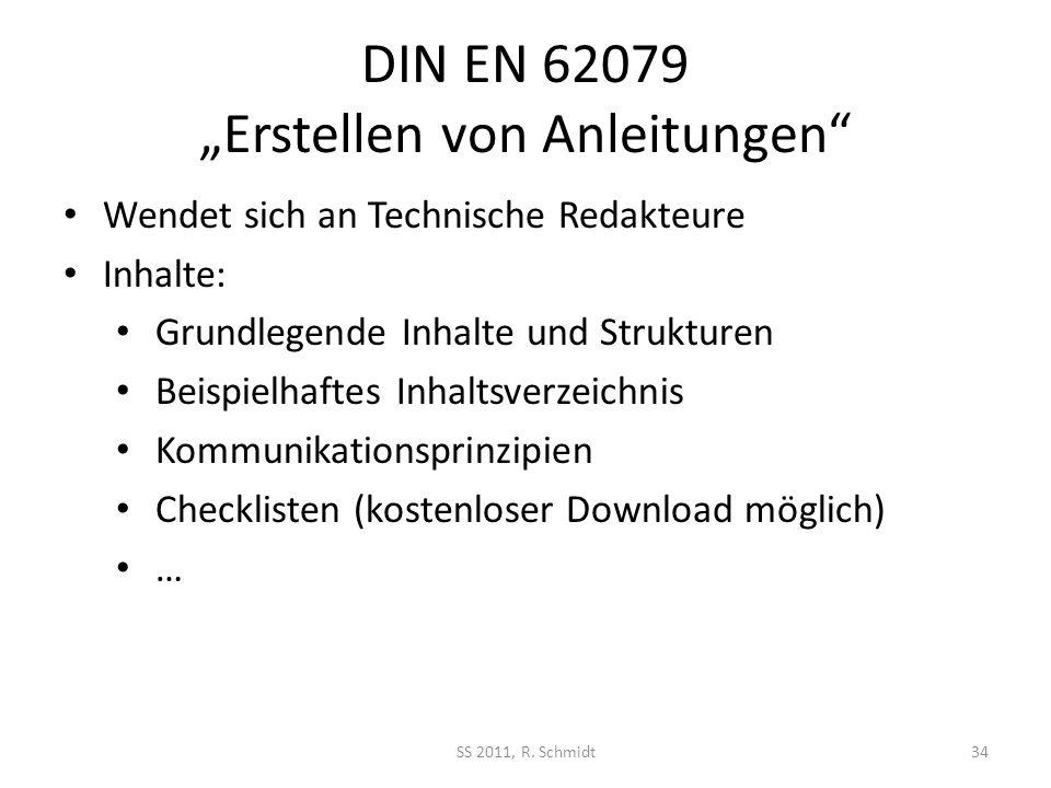 """DIN EN 62079 """"Erstellen von Anleitungen"""