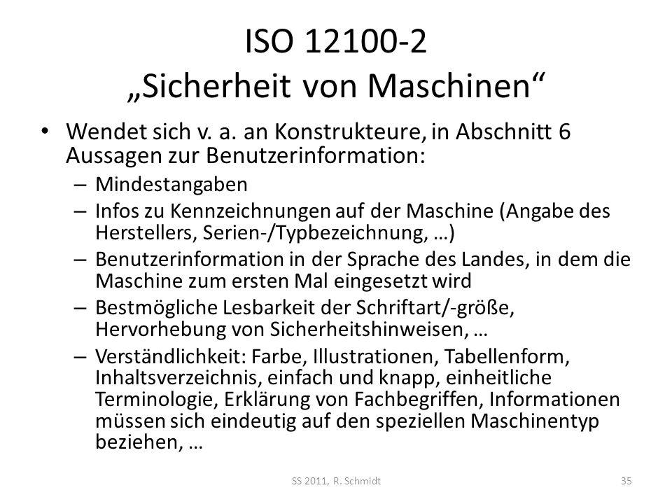 """ISO 12100-2 """"Sicherheit von Maschinen"""