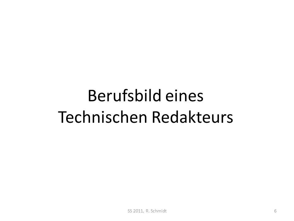 Berufsbild eines Technischen Redakteurs
