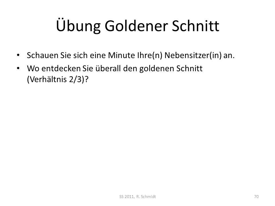 Übung Goldener Schnitt
