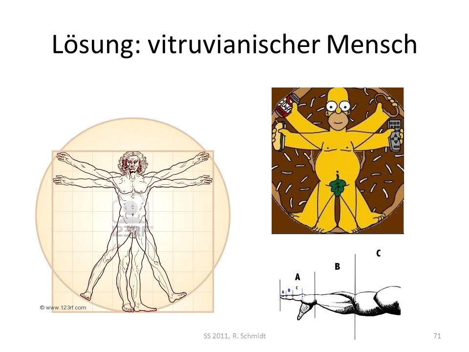 Lösung: vitruvianischer Mensch