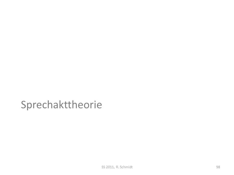Sprechakttheorie SS 2011, R. Schmidt