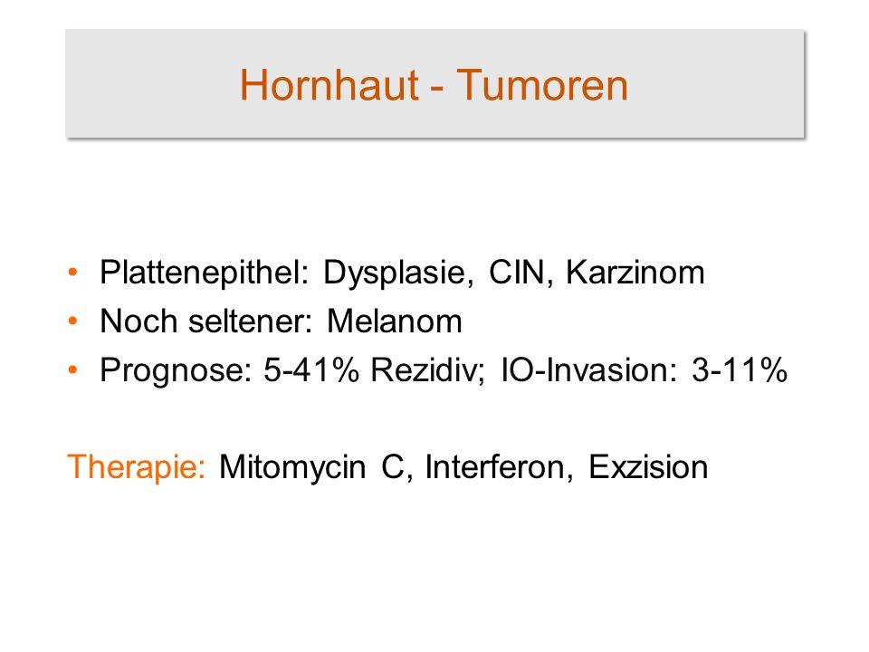 Hornhaut - Tumoren Plattenepithel: Dysplasie, CIN, Karzinom
