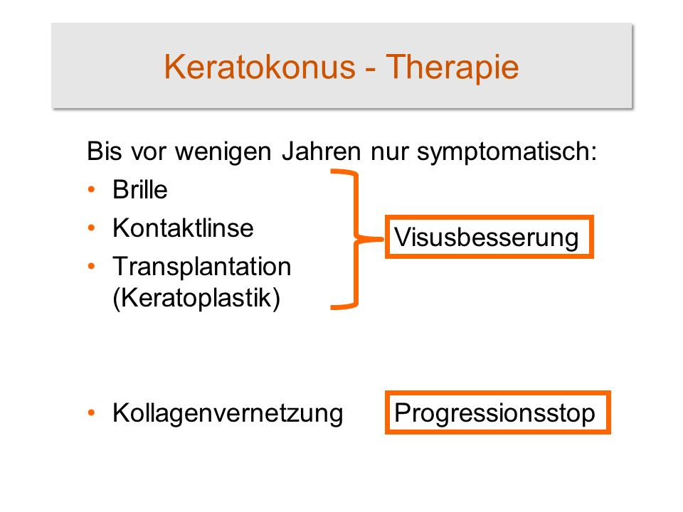 Keratokonus - Therapie