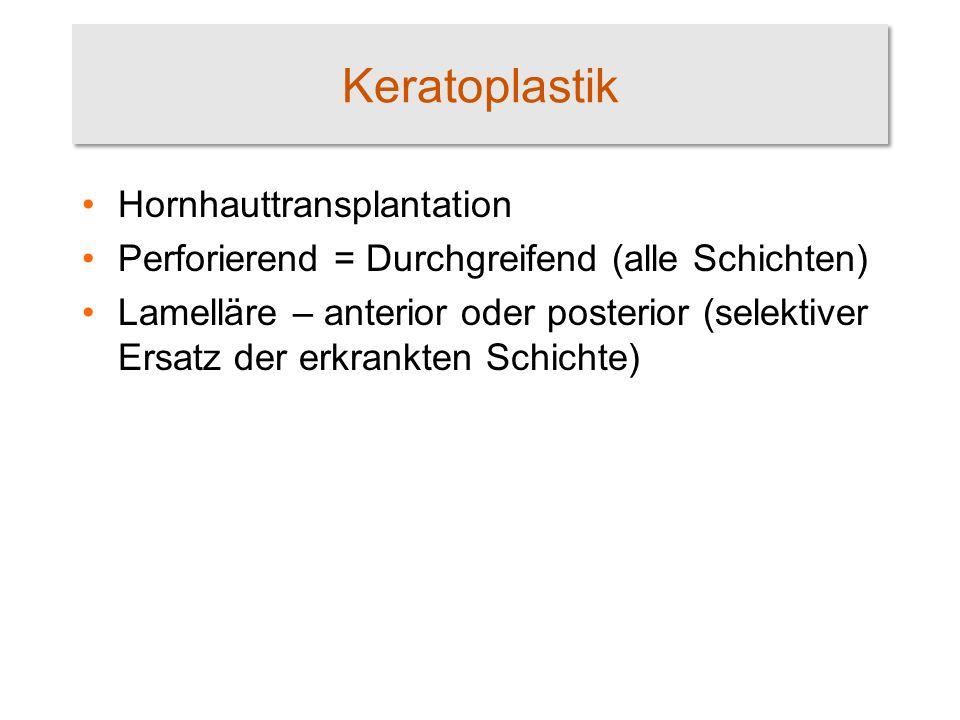 Keratoplastik Hornhauttransplantation