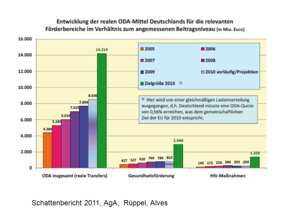 Schattenbericht 2011, AgA, Rüppel, Alves