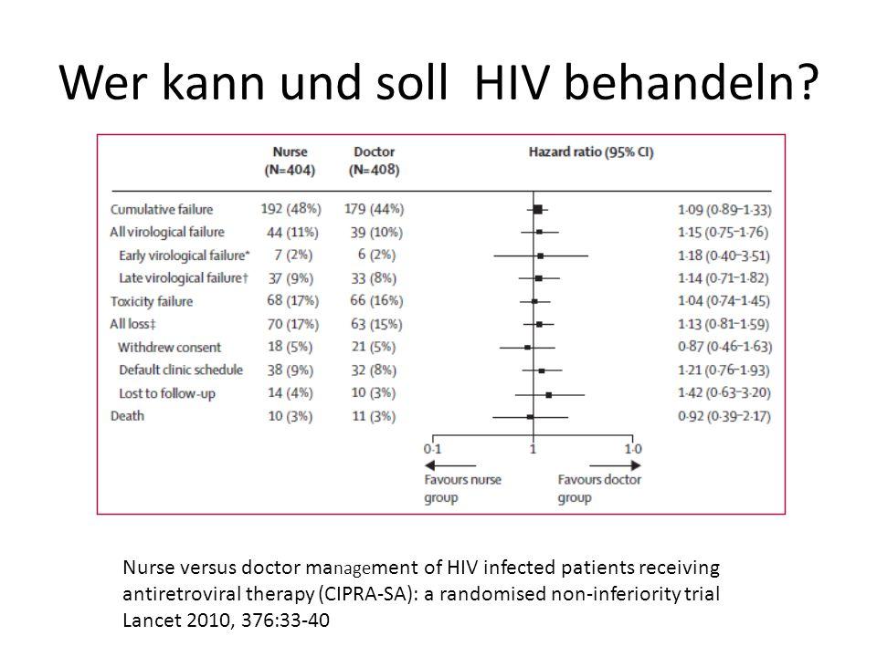 Wer kann und soll HIV behandeln