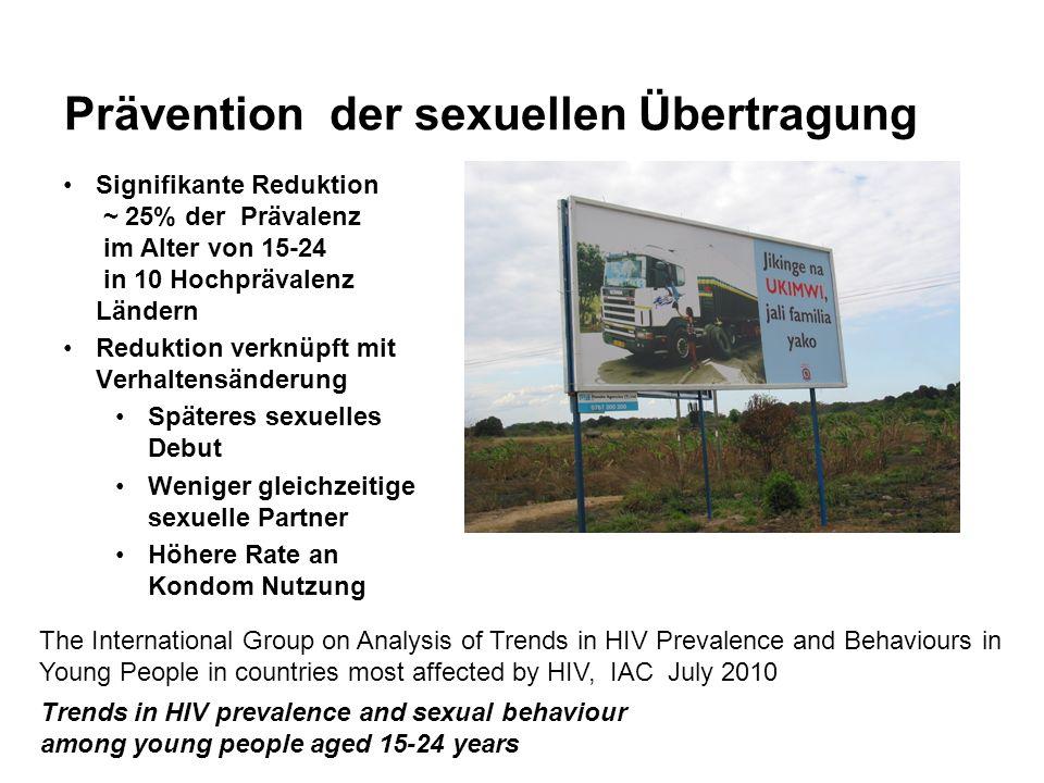 Prävention der sexuellen Übertragung