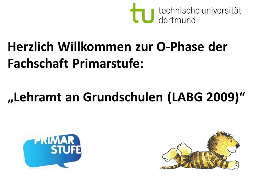 """Herzlich Willkommen zur O-Phase der Fachschaft Primarstufe: """"Lehramt an Grundschulen (LABG 2009)"""