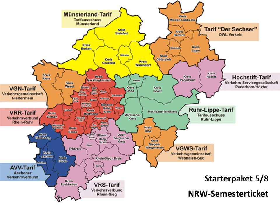 Starterpaket 5/8 NRW-Semesterticket