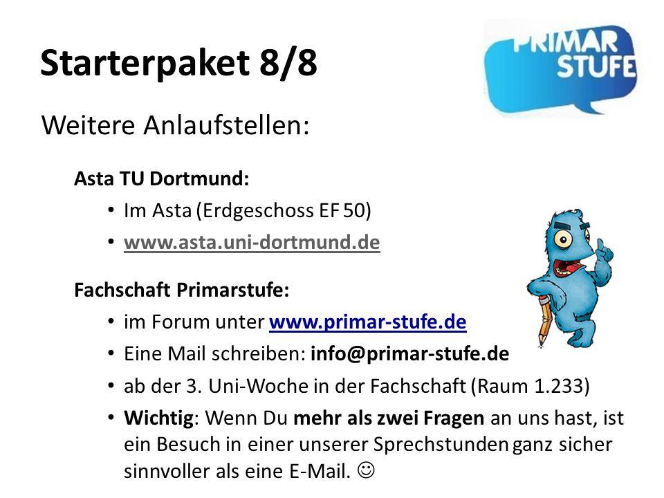 Starterpaket 8/8 Weitere Anlaufstellen: Asta TU Dortmund: