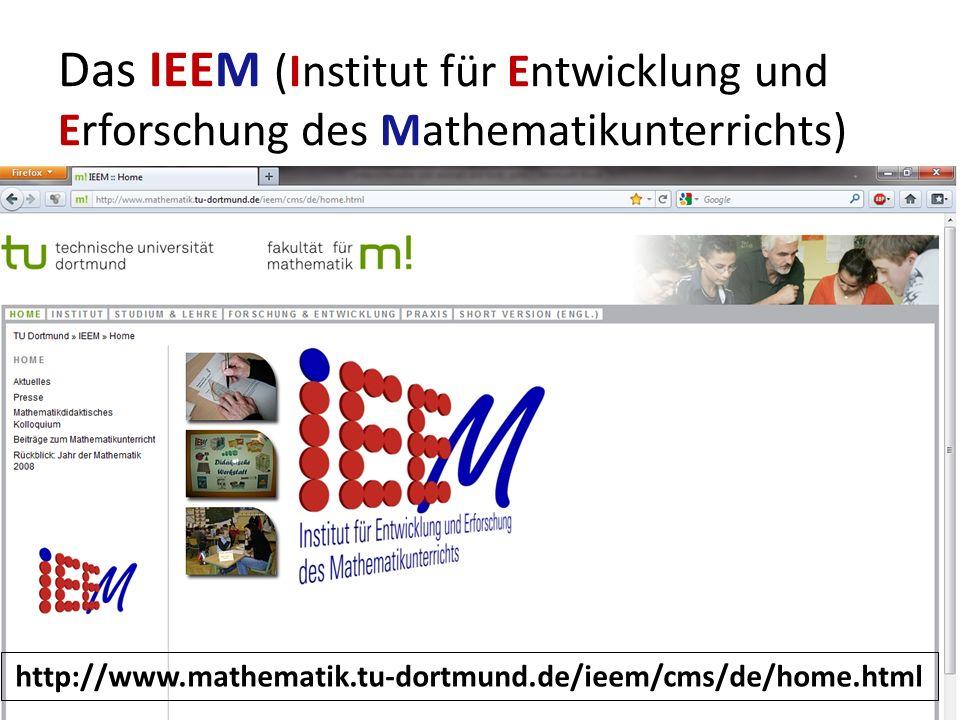 Das IEEM (Institut für Entwicklung und Erforschung des Mathematikunterrichts)