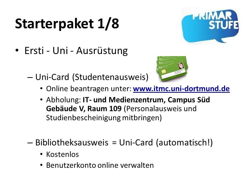 Starterpaket 1/8 Ersti - Uni - Ausrüstung Uni-Card (Studentenausweis)