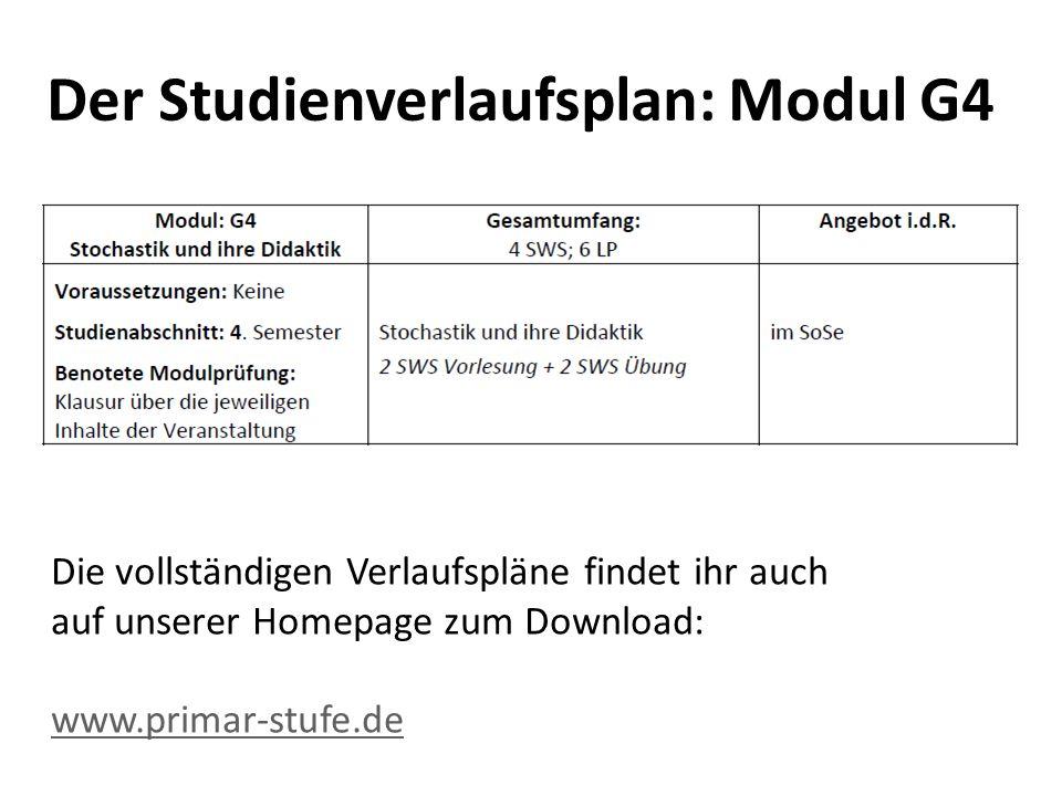 Der Studienverlaufsplan: Modul G4