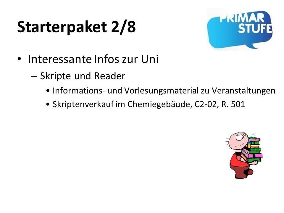 Starterpaket 2/8 Interessante Infos zur Uni Skripte und Reader