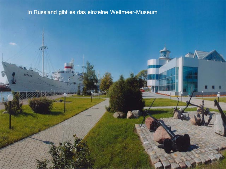 In Russland gibt es das einzelne Weltmeer-Museum
