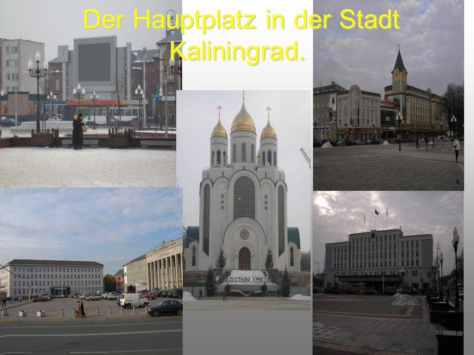 Der Hauptplatz in der Stadt Kaliningrad.