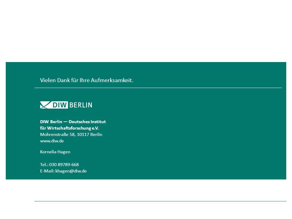 Kornelia Hagen Tel.: 030 89789-668 E-Mail: khagen@diw.de