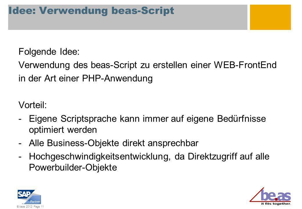 Idee: Verwendung beas-Script