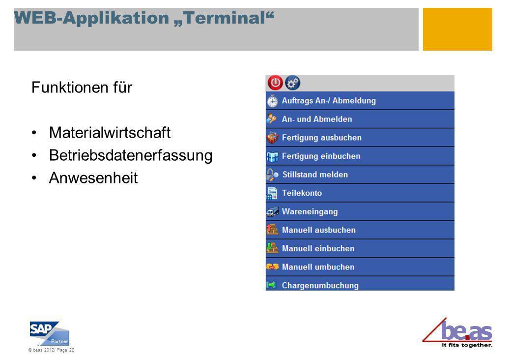 "WEB-Applikation ""Terminal"