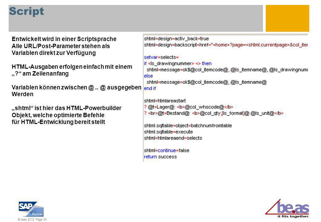 Script Entwickelt wird in einer Scriptsprache