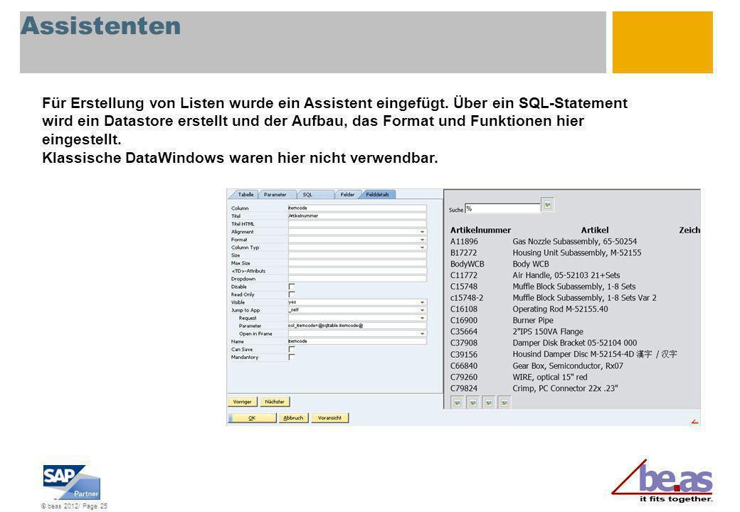 Assistenten Für Erstellung von Listen wurde ein Assistent eingefügt. Über ein SQL-Statement.
