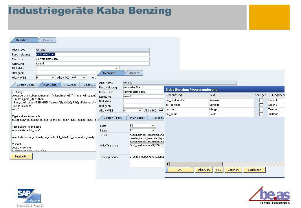 Industriegeräte Kaba Benzing