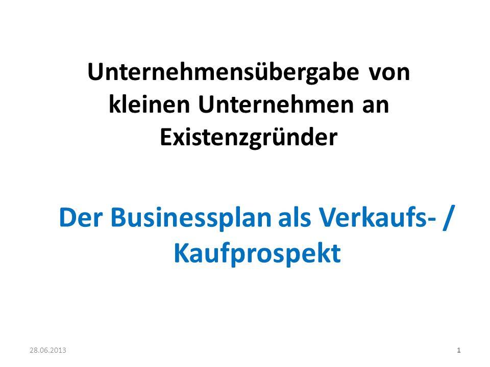 Unternehmensübergabe von kleinen Unternehmen an Existenzgründer